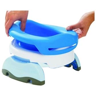 Pose de la recharge souple réutilisable sur le pot nomade Potette Plus