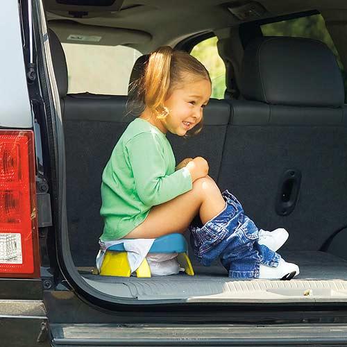 Utilisation du pot nomade potette Plus dans la voiture
