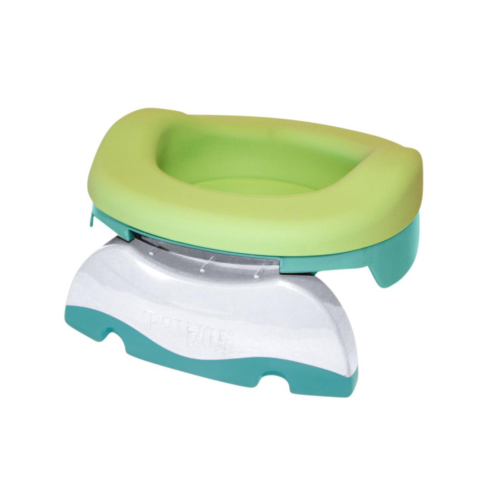 POTETTE PLUS Pot de Voyages//R/éducteur de Toilettes 2 1 Vert Clair//Blanc
